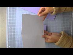 Scrapbooking en Español Episodio 17 Aprendiendo a elaborar tarjetas bonitas y sencillas - YouTube