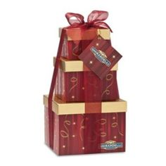 Ghirardelli Red 3-Tier Gift Tower