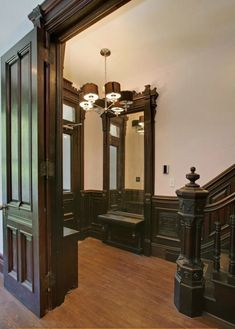Harlem New York West 136th Street Victorian interior woodwork - this is an example of how newer houses just can't compare to old houses.