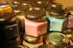 Doftljus med sting från Baraljus - Inredningsvis http://inredningsvis.se/doftljus-baraljus-webshop/