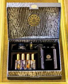 Discover 4 NadiaZ fragrances with this Discovery Box presenting a selection of your choice in delicate 2ml (o.o6 oz) or 4ml (0.13 oz)Mini-Spray bottles perfect to carry with you along . It is a new and playful approach to perfumes, whereby you can live an intense sensorial moment for a special event such as your wedding, a romantic dinner or night or as a thoughtful gift. Discovery Box, Romantic Dinners, Thoughtful Gifts, Spray Bottle, Fragrances, Special Events, Bottles, Delicate, Perfume
