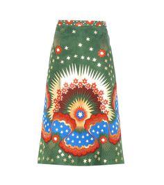 mytheresa.com -  Embellished printed suede skirt - Luxury Fashion for Women / Designer clothing, shoes, bags