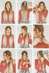 Tutorial: Winter Hairstyle With Beanie – Pigtail Hairstyles Beanie Hairstyles, Easy Work Hairstyles, Diy Hairstyles, No Heat Hairstyles, Hairstyles With Hats, Pretty Hairstyles, Easy Winter Hairstyles, Easy Braided Hairstyles, Baseball Cap Hairstyles