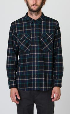 New Natural Flannel Long Sleeve Shirt | RVCA