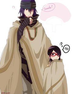 Sasuke and Sarada Pretending to be daddy