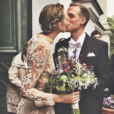 Frida Gustavsson's wedding day braid