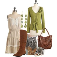 girly in green by cswope on Polyvore