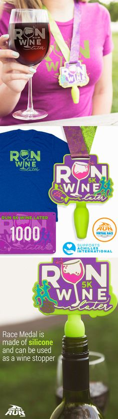 I might have to do this Virtual Race if for no other reason than the medal... it's a wine stopper! Ha ha ha. #yearofkendall #kendall34 #girlsruntheworld