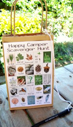 DIY Camping Scavenger Hunt For The Kids ~ Free printable