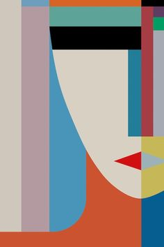 Absolute Face by The Usual Designers - Wrapped Canvas Typography Print Abstract Face Art, Geometric Painting, Colorful Abstract Art, Geometric Face, Geometric Shapes Art, Art Halloween, Inspiration Art, Journal Inspiration, Creative Inspiration