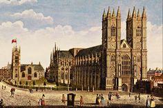 Thomas Hosmer Shepherd (1793-1864)-'Westminster Abbey