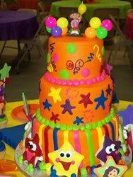 What's a Dora the Explorer Party without a Dora cake--boring! Here's a super cake that's sure to send guests exploring their options to get a piece.