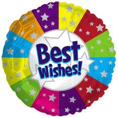 17'' Best Wishes Metallic Balloon (5/case)
