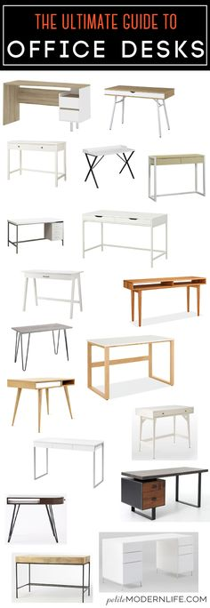 The Ultimate Guide for Office Desks: Various prices and inspiration to build your own!