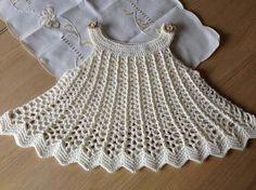 Vestidos de bebé tejidos a crochet con patrones p - Imagui