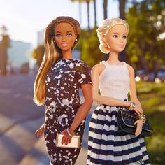I'm thankful to spend this time with friends, how about you? #barbie #barbiestyle