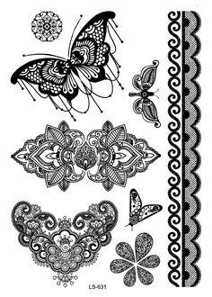 Risultati immagini per lace lotus tattoo black and white