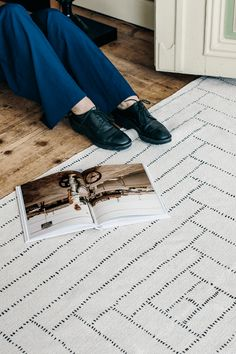 Recycled cotton carpet designed by Finnish design studio Saana ja Olli. The hand-drawn lines in this rug are highlighted by natural, muted colors. Piilopirtti c Define Fashion, Interior Styling, Interior Design, White Carpet, Carpet Design, Muted Colors, Shag Rug, Rug Size, Home Goods