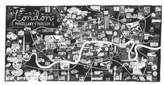 Caroline Harper. Hand-drawn maps | London - a miscellany of museums