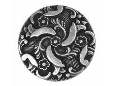 Twirling 3/4 inch Metal Button Antique Silver Color