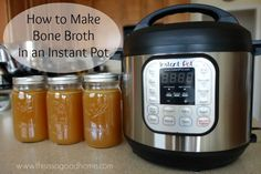 Learn how easy it is to make bone broth in an Instant Pot   This is so good...