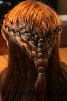 Double waterfall braid hairstyle-very game of thrones