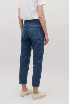 COS Cropped slim-fit jeans