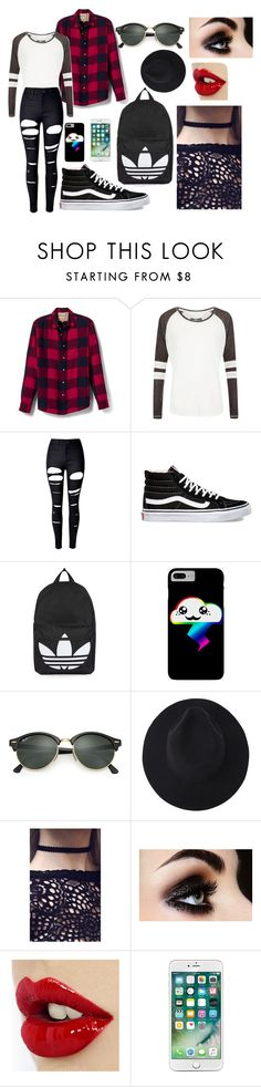 """""""Michaela Ann #2"""" by adelaidemhemminger on Polyvore featuring Banana Republic, Superdry, WithChic, Vans, Topshop and Ray-Ban"""