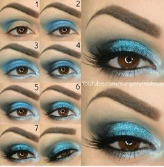 Electric blue eye