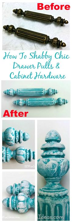 Super easy way to turn ugly drawer knobs into something cute.