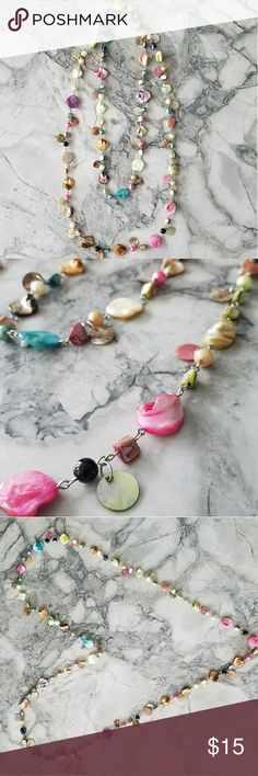 Bright Multi Coloured Beaded Necklace This colorful muti coloured beaded necklace is a fun way to transform your look. It is very versatile and can be worn in different ways. Jewelry Necklaces