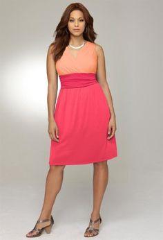 Avenue Plus Size Tonal Crossover Dress by Avenue
