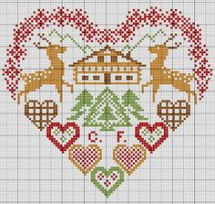 gazette94: HEART MOUNTAIN---PG 2 OF 3---HOLIDAY HEART---COLORED USING DMC 829, 728,988,321