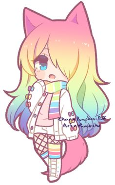 Good morning friends here is my posts hope u like them! Here is the Rainbow Girl! dibujos [Chibi] Pumpkin-Puff 2 by Kougane on DeviantArt Chibi Girl Drawings, Kawaii Drawings, Cute Kawaii Drawings, Cute Animal Drawings, Cute Drawings, Cute Animal Drawings Kawaii, Chibi Drawings, Kawaii Art, Cute Anime Chibi