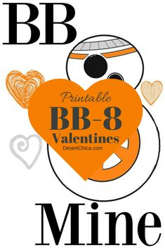 Looking for a cool set of Star Wars valentines? How about these fun and free printable BB-8 valentines!