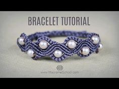 DIY Easy Wave Bracelet with Beads | Macrame School - YouTube