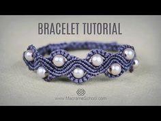 DIY Macramé Wave Bracelet with Beads | Tutorial - YouTube