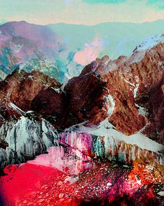 mountains of color. @Hillary Platt Bandley Platt Bandley white this reminds me of you