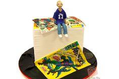 Comic Themed Groom's Cake | http://blog.pinkcakebox.com/comic-themed-grooms-cake-2012-10-29.htm