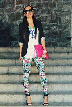 @roressclothes clothing ideas #women fashion Best Combination Ideas about Floral Pants: Chic Style