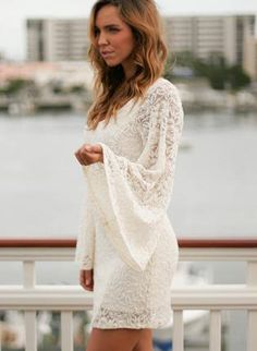 Ivory Long Sleeve Floral Flare Dress,  Dress, flare dress  floral dress, Bohemian (Boho) / Hippie