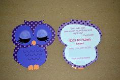 sleepover party invitation #convite   coruja #owl