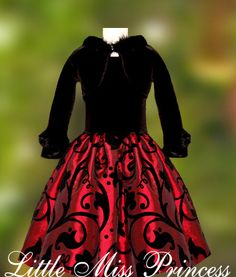 Bolero Included Black and Burgundy/Wine Christmas Holiday Party Dress