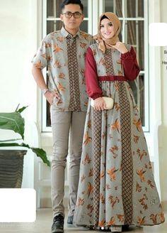 Model Gamis Polos Kombinasi 2019 Batik Mode, Batik Muslim, Dress Batik Kombinasi, African Fashion Dresses, Fashion Outfits, Women's Fashion, Kebaya Modern Dress, Hijab Stile, Batik Fashion