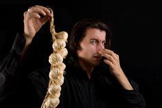 Vampire Holding Garlic