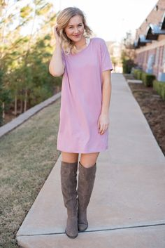 Piko cap sleeve tunic dusty purple from Lush Fashion Lounge