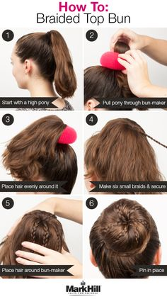 Who says buns can't be glam?  Add some braids and use a bun-maker  for an even more fabulous version of the  go-to high bun.