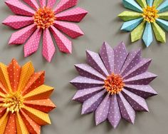 Dimensional paper flowers- 20 Cute and Easy DIY Paper Flower Ideas for Spring and Summer Home Decor