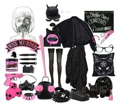 """""""[BRACKISH]"""" by randallflag ❤ liked on Polyvore featuring Sourpuss, Lime Crime, Boohoo, Jellycat, Ganz, AllSaints, GAS Jeans, Manic Panic NYC, Hot Topic and Clinique"""
