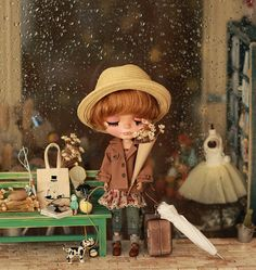 Miss yo 2015 Summer & Autumn - Miss yo Short Wind Coat for Blythe / JerryBerry doll - dress / outfit - Light Brown